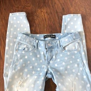 Women's Polka Dot Ankle Fit Jeans